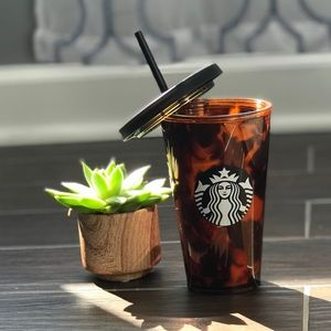 •STARBUCKS• 16oz Tortoise Tumbler with Straw